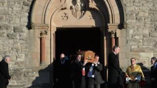 The funeral took place at St Patrick's Church in Downpatrick