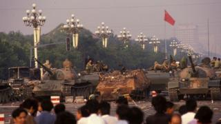 Clashes in Tiananmen Square in Beijing, China on June 04, 1989.