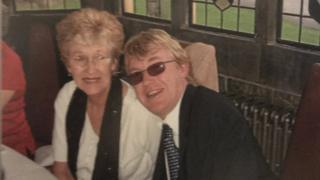 Christopher Richards and his Mother Pamela Richards
