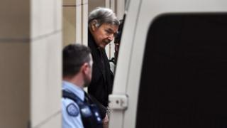Cardinal Pell leaves the Supreme Court of Victoria after the verdict on Wednesday