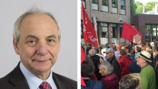 Mike Hedges and Jeremy Corbyn rally