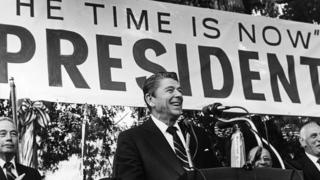 Ronald Reagan on the campaign trail in 1979