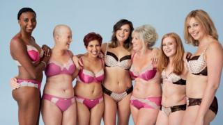 Women modelling underwear
