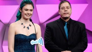 Wayne and his daughter Nicole at the Glaad awards, April 2016