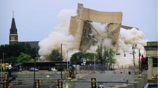 Implosion of the Alfred P. Murrah Federal Building on 23 May 1995