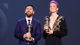 Messi y Rapinoe