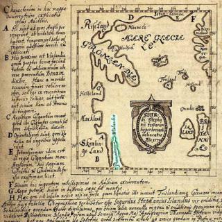 Mapa feito por Sigurd Stefansson
