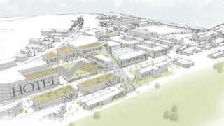 A graphic of the proposal for the site at Ebrington