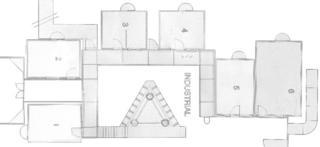 Industrial floor plan