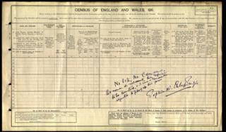 Princess Sophia Duleep Singh's census form