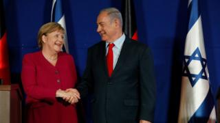 آنگلا مرکل و بنیامین نتانیاهو