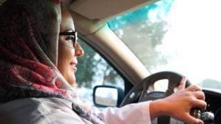Roa Altaweli on her first drive to work in Jeddah, Saudi Arabia