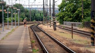 Railway station in Prague