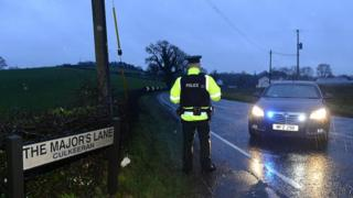 Crash scene near Moy