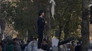 Umugore mu myigaragambyo muri Irani