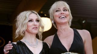 Мадонна и Шарон Стоун в 2008 году