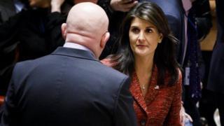 سفرای روسیه و آمریکا در سازمان ملل متحد