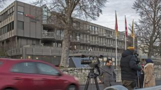 Swiss Olympia House, where Yemen peace talks are taking place, in the village of Macolin, Switzerland, 15 December 2015