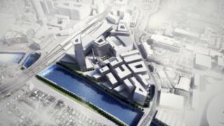 Artist impression shows Central Quay aerial view