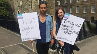 Campaigners against letting charges