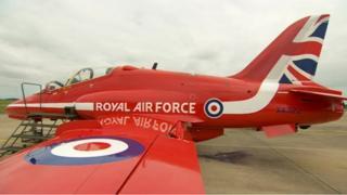 Hawk jet of the Red Arrows