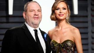 Producer Harvey Weinstein and his wife, fashion designer Georgina Chapman