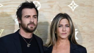 Hollywood husband and wife Jennifer Aniston and Justine Theroux