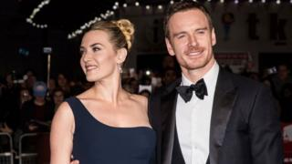 Kate Winslet and Michael Fassbender on the red carpet
