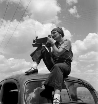 Dorothea Lange in Texas on the Plains, c.1935