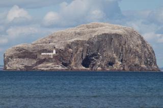 Bass Rock from Seacliff Beach.
