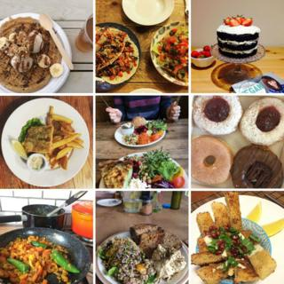 Photos of vegan food from Instagram