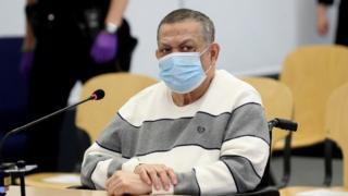 Ex-Col Inocente Montano in court in Madrid, 8 Jun 20