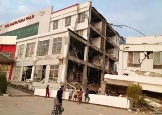 RS Anutapura yang rusak akibat gempa di Palu, Sulawesi Tengah.