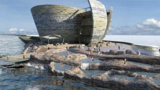 The proposed Swansea Bay tidal lagoon.