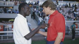 George Weah and Arsene Wenger