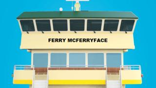 An illustration of Ferry McFerryface, a new Sydney ferry