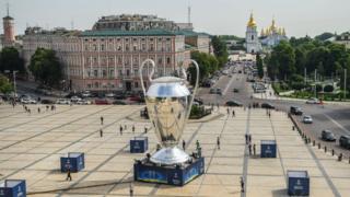 Київ, Софійвська площа, кубок Ліги чемпіонів
