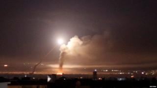 """Israel's defence minister said Israel it had """"no interest in escalation"""" following the strikes"""
