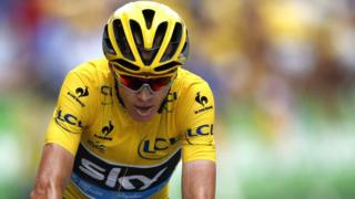 Team Sky rider Chris Froome of Britain in the Tour De France 2015