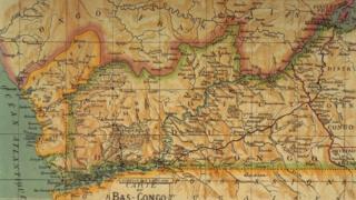 Mapa de la RDC en 1913