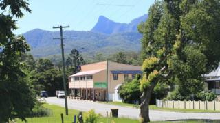 Tyalgum's pub and surrounding scenery