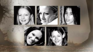 The five women, clockwise from top left, Gemma Adams, Anneli Alderton, Tania Nicol, Paula Clennell and Annette Nicholls