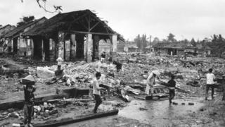 Huế tan hoang sau giao tranh năm 1968