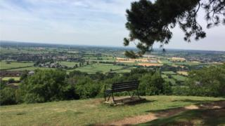 View from hill on the Cotswold Way