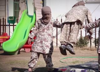 IS video showing children from an orphanage undergoing military training