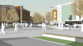 Work to replace the Temple Circus roundabout aims to improve pedestrian and cycle links