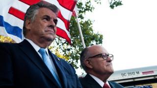 New York Congressman Peter King and former New York City Mayor Rudy Giuliani