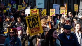 Teachers march in Glasgow