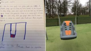 After Naomi wrote a letter, the local council installed a special needs swing