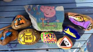 Rocks created for Bournville Rocks